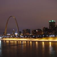 St. Louis Night from Eads Bridge, Сент-Луис