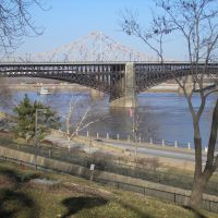 View Of The Eads Bridge From Jefferson Natl Park, St. Louis, MO, Сент-Луис