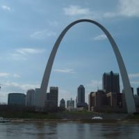 Apr 2007 - St. Louis, Missouri. St. Louis from the Mississippi., Сент-Луис