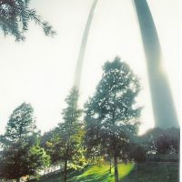 Saint Louis Arch, From River Side, Сент-Луис