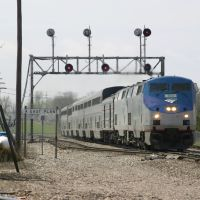 Amtraks #4 the eastbound Southwest Chief arrives in Galesburg, IL, Аледо