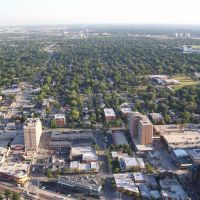 Downtown Arlington Heights Aerial Photo, Арлингтон-Хейгтс