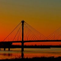 Clark Bridge Sunset, Вуд Ривер