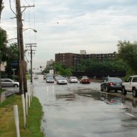 Cars on flooded street, Дес-Плайнс