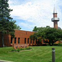 The Islamic Cultural Center of Greater Chicago, view from the driveway., Нортбрук