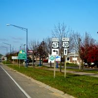 The Lincoln Highway in Clinton, IA, Олбани