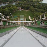 Norge Ski Jump, Fox River Grove - top of jump, Ривер Гров