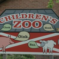 Brookfield Zoo sign for the Childrens Zoo, Риверсид