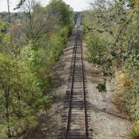 Old Railroad over the Fox River in St. Charles., Сант-Чарльз