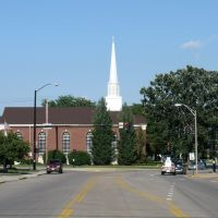 Route 6 with Congregational Church, Peru, IL, Стандард