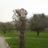 Overgrown Sign Outside Winnebago Park, Форест Парк