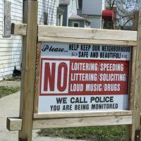 Interesting sign seen around Harvey, Харви