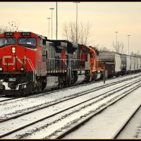 """CN  at Harvey From """"City of New Orleans""""  a few miles from  Homewood IL, Харви"""