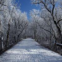 Hiking Hebron Trail in winter, Хеброн