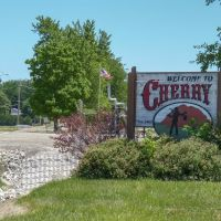 Cherry Illinois welcome sign, Черри