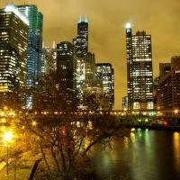 DSC09851 Chicago at Night - S view, Чикаго