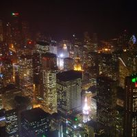Chicago Night View from the Sears Towers Skydeck, Чикаго
