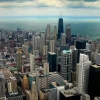 View From Sears Tower, Chicago, Illinois, Чикаго