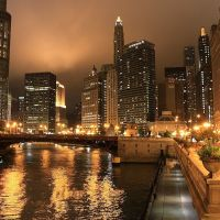 Chicago River., Чикаго