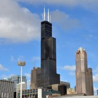 Willis / Sears tower - Wild Chicago weather 4 PM 26 Sept 2012<<<same day, Чикаго