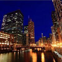 喜歡有河流的城市,不喜歡有城市的河流 - Chicago River, Illinois, USA, Чикаго