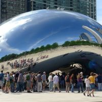 Polished Steel Bean in Chicago USA, Чикаго