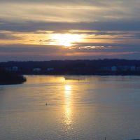 Sunset on the Ohio River, Evansville, IN, Евансвилл