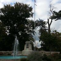 Fountain at Garvins Park entrance, Евансвилл