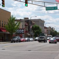 Main Street, south from Marion, Elkhart, Indiana, July 2009, Елкхарт