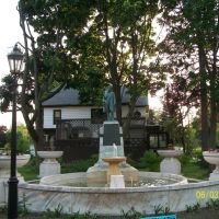 Fountain and statue of Dr. Havilah Beardsley(1); Elkhart, IN, Елкхарт