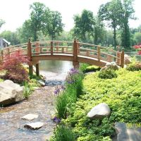 Oriental Bridge in Wellfield Botanic Garden; Elkhart, IN, Елкхарт