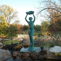 Statue of Tethys, Wellfield Botanical Garden; Elkhart, IN, Елкхарт