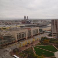 View of the Convention Center from the Hyatt Regency, Индианаполис
