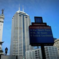 Looking at the Skyline, downtown Indy, Индианаполис