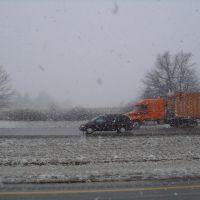 Snow on Interstate 65, Меридиан Хиллс