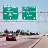 EE UU Salida de Indianápolis a Chicago, Меридиан Хиллс