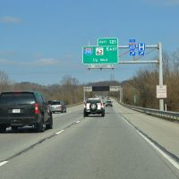 Exit for Interstate 265 East 1/2 Mile, Interstate 64, Westbound, Нью-Олбани