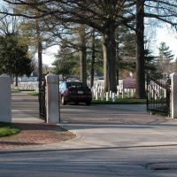 Entrance to New Albany National Cemetery, Ekin Avenue, New Albany, Indiana, Нью-Олбани