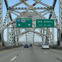 New Albany Exit 3/4 Mile Ahead, Interstate 64, Westbound, Олбани