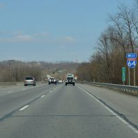 Westbound on Interstate 64/U.S. Route 150, New Albany, Indiana, Олбани