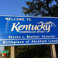 Welcome Sign to Kentucky, Олбани