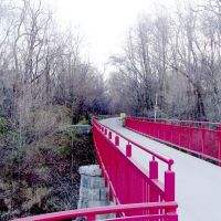 On the Monon Trail bridge over Williams Creek, Равенсвуд