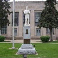Union Solider Statue at Shelby County Courthouse, Shelbyville, Indiana, Шелбивилл