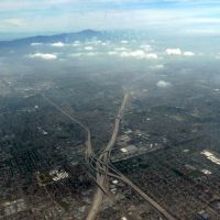 Over Buena Park, approaching Los Angeles, California, Буэна-Парк