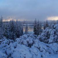 Snowy morning, Вест-Модесто