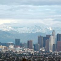 Los Angeles Downtown area and Mountains, Вью-Парк