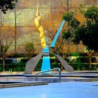 A metallic sculpture in a piazza off of Brand Blvd., Glendale CA, Глендейл