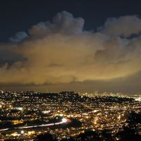 Night over San Francisco seen from San Bruno Mountain, Daly City, CA, Дейли-Сити