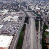 Birds Eye view of San Diego Freeway, Инглвуд