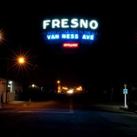 "FRESNO, ""The Best Little City in the U.S.A."" Van Ness Ave Entrance, 4/2011, Калва"